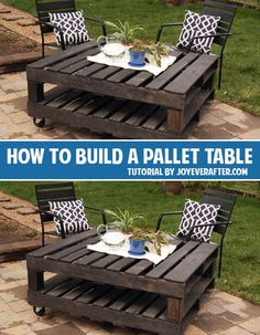 How to build a pallet table and lots of other great diy projects! building furniture building projects