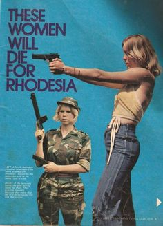 The Rhodesian Bush War - also called the Second Chimurenga and the Zimbabwe War of Liberation - was a civil conflict from July 1964 to December 1979 in the unrecognised country of Rhodesia (later Zimbabwe-Rhodesia). Military Women, Military History, South African Air Force, Military Drawings, War Photography, Landscape Photography, Female Soldier, Military Photos, Historical Pictures
