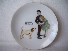 "1950s Vintage Norman Rockwell's ""Big Brother"" Limited Series Collectors Edition Commemorative Plate made in Japan by VintageFindsbySuzi on Etsy"