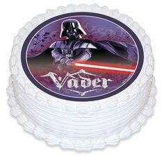 Star Wars Darth Vader Edible Cake Image