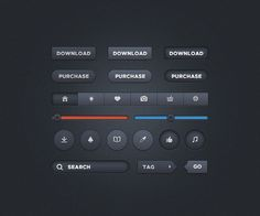 Dark UI – Free User Interface Kit