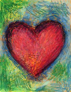Jim Dine Textured Heart