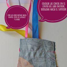 PANDIELLEANDO: Tutorial para hacer cariocas Reusable Tote Bags, Bias Tape, Manualidades