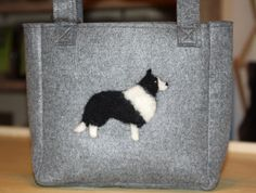 Border Collie Felt Tote by kenleighacres on Etsy, $35.00