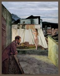 Edward Hopper - (1941) - naked laundry! | Smelly Towels? | Stinky Laundry? | Washer Odor? | http://WasherFan.com | Permanently Eliminate or Prevent Washer & Laundry Odor with Washer Fan™ Breeze™ | #Laundry #WasherOdor  #SWS