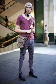 CLR Street Fashion: AllSaints tee, Ziggy jeans, Zu boots, Fossil watch.