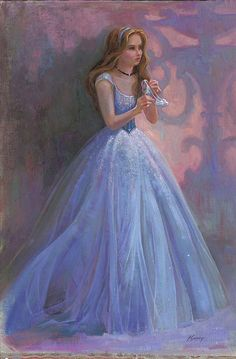 """""""Glass Slipper"""" I like how this is portraying the scene as one she intended to orchestrate. Like she purposely took off her glass slipper and is thinking about where she could drop it to make sure the prince finds it. Or maybe she's thinking, """"do I really need a guy in my life right now?"""""""