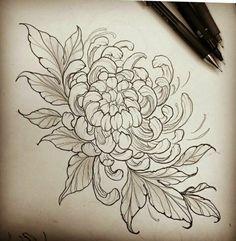 japanese tattoos for men Asian Tattoos, Leg Tattoos, Sleeve Tattoos, Flower Tattoo Designs, Flower Tattoos, Tattoo Sketches, Tattoo Drawings, Chrysanthemum Drawing, Chrysanthemum Flower