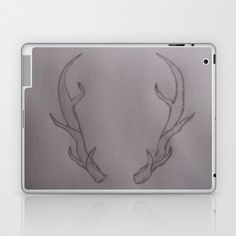 Hannibal Ravenstag Antlers Laptop & iPad Skin by TheseRmyDesigns - $25.00