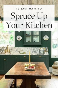 Don't have the time or budget for an entire kitchen makeover? Here are ten easy ways to fancy up your kitchen. — via @PureWow