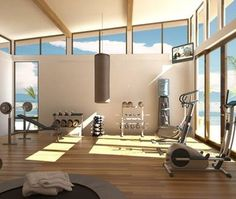 A gym with a view...now that would get me motivated!