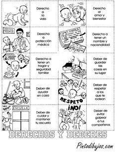 Derechos y deberes de los niños para colorear