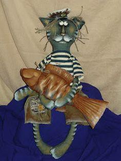 Лоскутная сказка: Котик и Шпротик