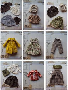 Inspiration: frame the lacy doll clothes and hang in sewing room Doll Clothes Patterns, Doll Patterns, Clothing Patterns, Blythe Dolls, Girl Dolls, Sewing Stuffed Animals, Sewing Dolls, Waldorf Dolls, Diy Doll