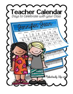 Celebrate special days with your students.  January -DecemberMonthly calendars to show days you can celebrate with your students.  Thank you Melonheadz for your amazing Clip art!!! I love it!!!