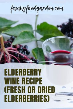 Delicious elderberry wine recipe just for you! Many winemakers also use elderberries to add some flavor and color to other grape wines. For our wine making, we chose to only use elderberries in this recipe. That way we understand the base taste of blue elderberries. Check this pin! #elderberry #elderberrywine #winerecipe Kitchen Recipes, Wine Recipes, Beef Recipes, Cooking Recipes, That Way, Just For You, Wine Making Process, Wine Yeast, Healthy Fruits And Vegetables