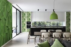 In the palm groove • Contemporary - Kitchen - Wall Murals - Stickers - Nature - Flowers and plants