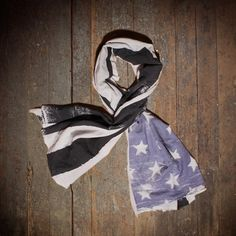 We Are All Smith: Flag Scarf Black Blue, at 33% off!