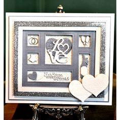 A wide selection of high quality products from Creative Expressions. Sue Wilson, Wedding Anniversary Cards, Wedding Cards, Scrabble Art, Punch Art Cards, Spellbinders Cards, Love Cards, Xmas Cards, Making Ideas