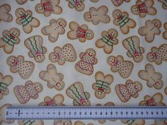 Timeless Treasures Christmas Holiday Gingerbread Cotton Fabric C4006 £8.95