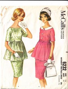 McCalls-6232-1962  one of the nicest maternity patterns I've seen. nice for church or wedding