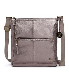 Another great find on #zulily! Metallic Pyrite Iris Leather Crossbody Bag #zulilyfinds