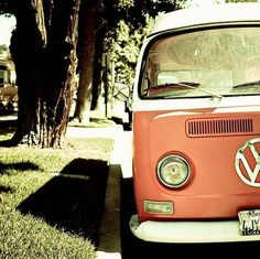 vintage volkswagen van = memories of the cream & brown one my dad owned
