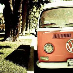 vintage volkswagen van = memories of the cream & brown one my dad owned