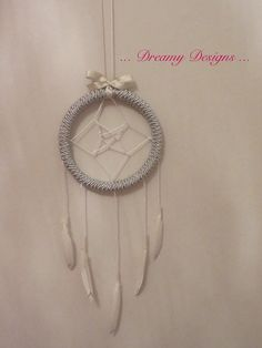 Silver Star dream catcher with paint detail on by Dreamydesigns01