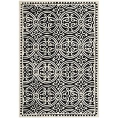 Safavieh Cambridge Collection CAM123E Handmade Wool Area Rug, 4-Feet by 6-Feet, Black and Ivory Safavieh http://www.amazon.com/dp/B00EIDTLI2/ref=cm_sw_r_pi_dp_rCGOub1MP59MG
