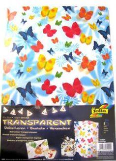 Papír průhledný - motýl 5 listů Napkins, Tableware, Dinnerware, Dinner Napkins, Tablewares, Place Settings