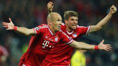 Arjen Robben (avec Muller) marque un doublé en finale de ligue des champions contre Dortmund !