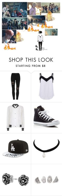 """Bts - Fire"" by tkyle134 ❤ liked on Polyvore featuring Antipodium, Converse, New Era and Bling Jewelry"