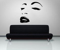 vinyl wall decal sticker hair style salon lips eyes face girl fashion holl a32