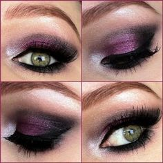 Dark purple smokey eyeshadow | AmazingMakeups.com