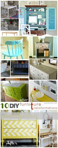 10 Great DIY Furniture Transformation Projects via sasinteriors.net