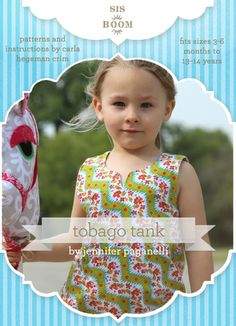 Sis Boom Tobago Pattern For Girls Cover