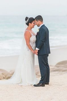 Romantic Wedding photo of bride and groom on the beach - Photography: JBJ Pictures | Colorful Cabo Destination Wedding - Belle The Magazine Romantic Wedding Photos, Romantic Pictures, Fairytale Weddings, Destination Weddings, Event Photography, Beach Photography, Best Bride, Honeymoon Spots, Bride And Groom Pictures