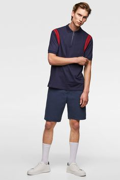 Image 1 of POLO SHIRT WITH CONTRASTING TRIMS from Zara Pyjamas, Gifts For Dad, Dads, Polo Shirt, Normcore, Sporty, Image, Style, Fashion