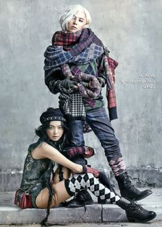 G-Dragon and Kim Sung Hee - Vogue Magazine August Issue 13 --- I don't usually pin women, but I made an exception for the Vogue series of pictures.