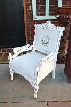 Today's reader feature is this lovely Eastlake Chair, submitted by our friend Beckwith Campbell.  She purchased this chair at an auction, and decided to give it a second chance.  Beckwith transferred my French Grains Sack with Wheat Wreath image onto the back of the chair.  She first painted the entire chair with chalk paint, distressed it, and applied...Read More »