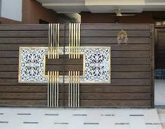 Gate Wall Design, House Main Gates Design, Front Gate Design, Door Design, Front Gates, Entrance Gates, Space Saving Furniture, Ms, House Plans