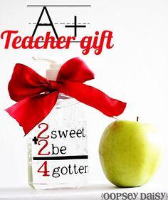 hand sanitizer, personalized, teacher gift, vinyl