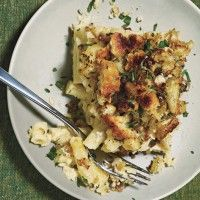 Baked Penne With Farmhouse Cheddar And Leeks Recipe — Dishmaps