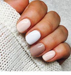 Pin by Lisa Firle on Nageldesign - Nail Art - Nagellack - Nail Polish - Nailart - Nails in 2020 Nagellack Design, Nagellack Trends, Neutral Nails, Nude Nails, Acrylic Nails, Neutral Nail Designs, Short Nails Shellac, Short Nail Manicure, Pink Nails