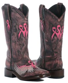 2013 Wings of an Angel Boots by Lagrange Leather. breast cancer awareness, #BreastCancerAwareness