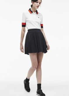 Pleated skirt in crushed jersey