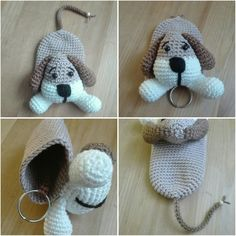 Best 12 Sil's Corner: Patroon sleutelhanger/hoesje hond – Crochet Key Cover, Love Crochet, Crochet Baby, Crochet Stitches Patterns, Crochet Patterns Amigurumi, Crochet Dolls, Crochet Keychain, Crochet Bookmarks, Knitting Projects