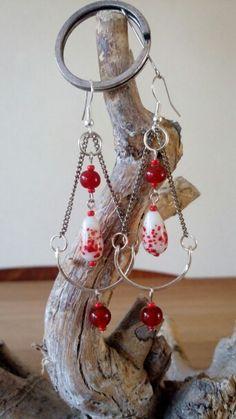 #oorbellen #sieraden #handgemaakt #uniek #earrings #jewelry #handmade #oneoffakind  www.facebook.nl/kikakoscreaties