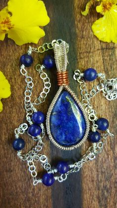Sterling Silver Lapiz Lazuli chain by BloomingPieces on Etsy https://www.etsy.com/listing/454466488/sterling-silver-lapiz-lazuli-chain